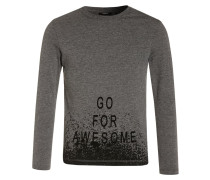 Langarmshirt dark heather grey