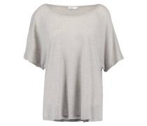 T-Shirt basic - white grey melange
