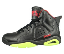 Sneaker high black lime red