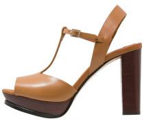 High Heel Sandaletten cognac