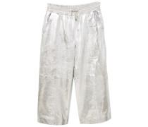 SHINY - Lederhose - silver