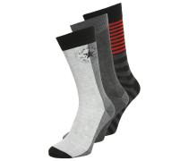 3 PACK Socken light heather grey/medium heather grey/black