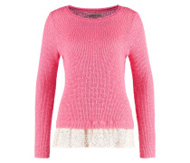 Strickpullover sunset coral
