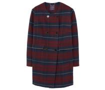 SIXTIES Wollmantel / klassischer Mantel garnet red
