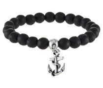 OPPOSITE - Armband - black/silver-coloured