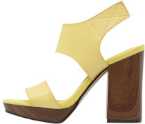 Plateausandalette yellow