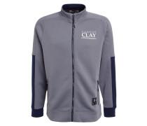 CLAY Sweatjacke graphite/white
