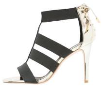 High Heel Sandaletten black/gold