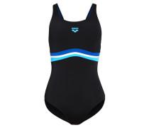 PRESTIGE Badeanzug black/deepsea turquoise