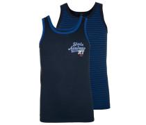 2 PACK - Unterhemd / Shirt - dunkelblau