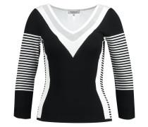 MGRALI Strickpullover noir/blanc