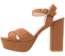 Plateausandalette - brown