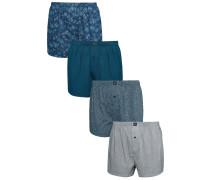 4 PACK Boxershorts blue