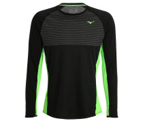 Langarmshirt black/green gecko