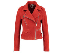 ROCKET - Lederjacke - red