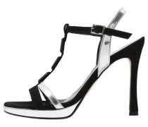 High Heel Sandaletten black/silver