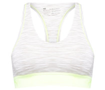 SPACE - Bustier - light grey melange/yellow