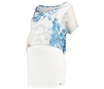 TShirt print white/blue