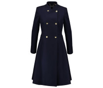 Wollmantel / klassischer Mantel navy