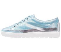 Sneaker low blue metallic