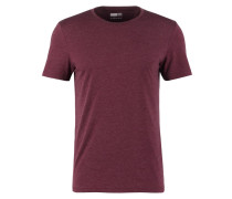 T-Shirt basic - bordeaux melange