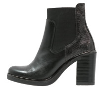 High Heel Stiefelette black/gun metal