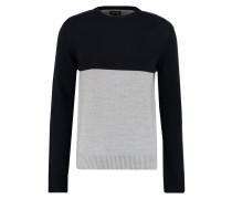 Strickpullover grey/dark blue