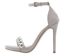High Heel Sandaletten grey