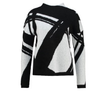 Strickpullover black/white