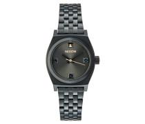 SMALL TIME TELLER Uhr black/rose goldcoloured