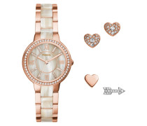 SET Uhr rose goldcoloured