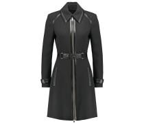 Wollmantel / klassischer Mantel noir/jet black