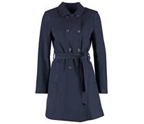 Wollmantel / klassischer Mantel marine