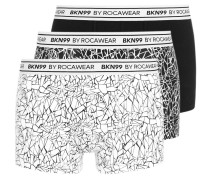 3 PACK Panties black/white