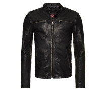 REAL HERO - Lederjacke - black