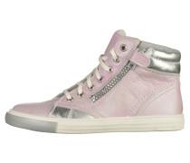Sneaker high fuchsia/silver