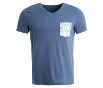 T-Shirt print - blue melange