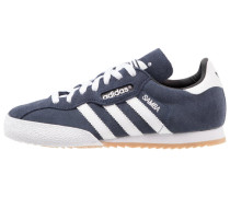 SAMBA SUPER SUEDE - Sneaker low - marine/running white