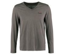 SOMBRE Langarmshirt dark grey solid
