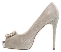 High Heel Peeptoe - glitter champagne