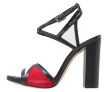 High Heel Sandaletten nero/bianco/rosso