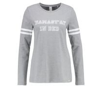 Nachtwäsche Shirt stone grey melange