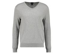 SLIM FIT - Strickpullover - heather grey