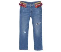 POMPON Jeans Straight Leg dark blue