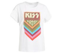 KISS - T-Shirt print - bright white