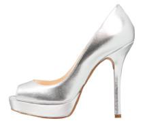 High Heel Peeptoe - argento