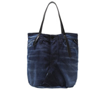 Shopping Bag blue black denim/black