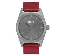 NIGHTLY - Uhr - gunmetal/maroon