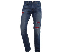 Jeans Straight Leg destroyed denim