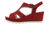 Plateausandalette rosso